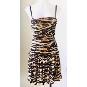 Dolce & Gabbana Tiger Print Fit & Flare Mini-Dress